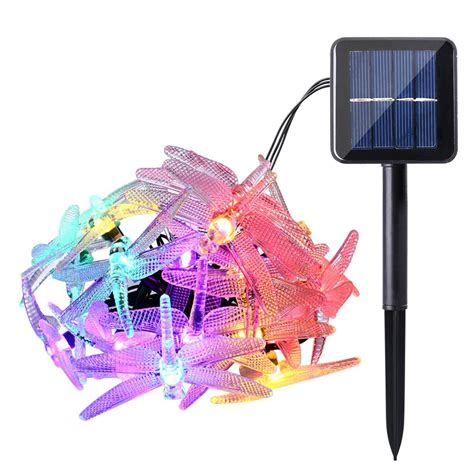 solar fairy lights outdoor outdoor dragonfly solar string lights 16ft 20 led 8 modes