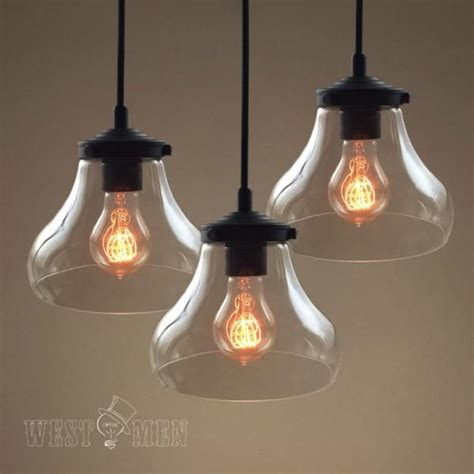 clear blown seeded glass pendant light fixtures