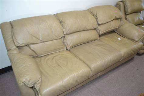 leather center leather pull out sofa