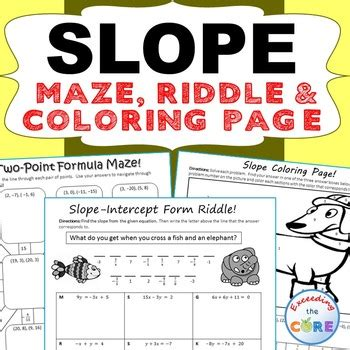 slope maze slope maze riddle coloring page fun math activities