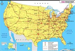 usa map states roads geography detailed map of united states