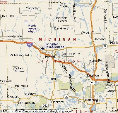 map of livingston county mi protected areas of livingston county michigan