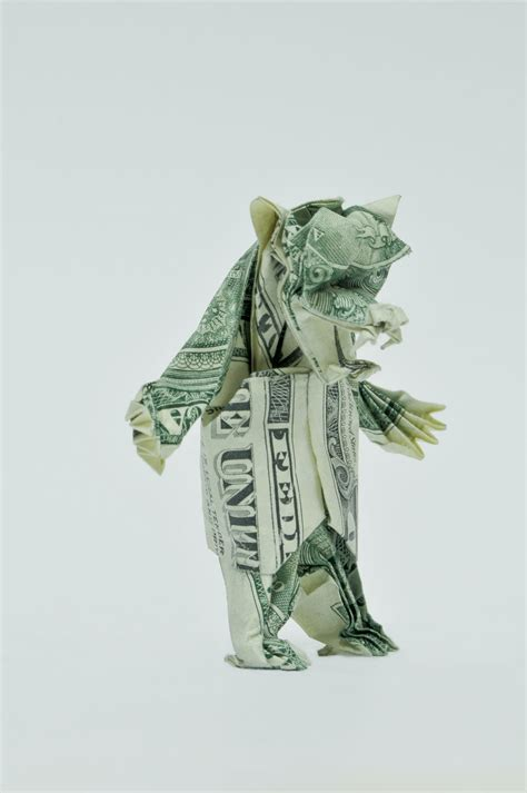 Single Dollar Bill Origami - dollar origami by won park oculoid design