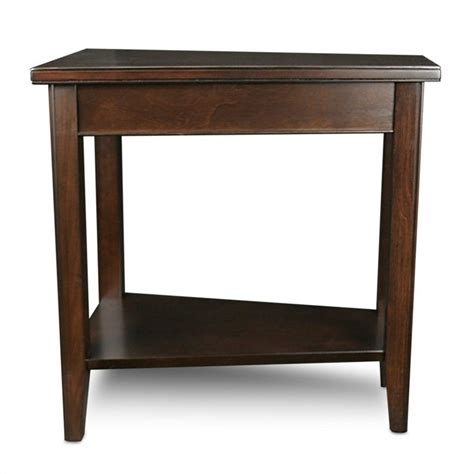 Wedge Table by Leick Laurent Recliner Solid Wood Wedge Table In Chocolate