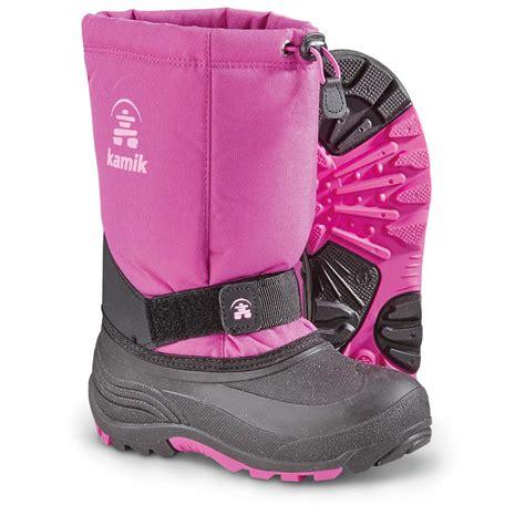kid snow boots kamik rocket pac boots 299521 winter snow boots