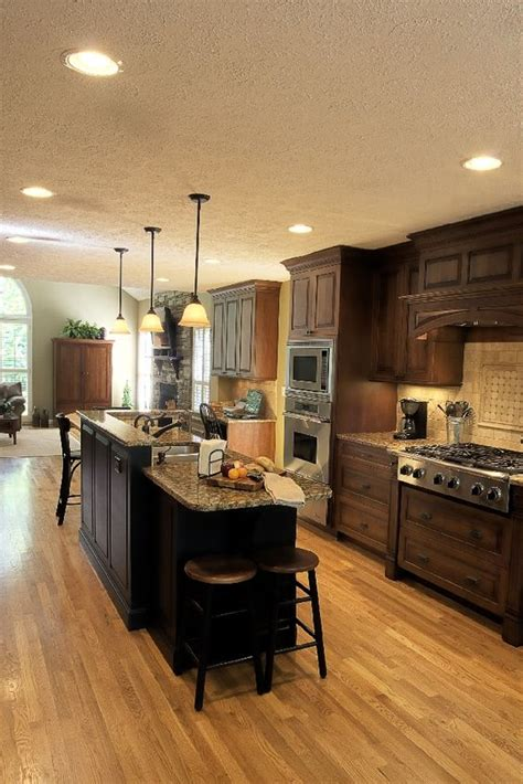 galley kitchens with island kitchens with islands wood cabinets and cabinets on pinterest