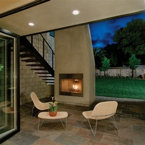 simple outdoor fireplace home