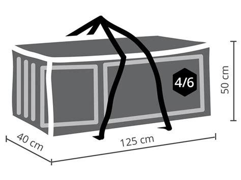 gartenpolster wetterfest schutzh 252 lle f 252 r gartenpolster 125x40x50cm passend f 252 r 4