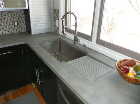 Modern Kitchen Concrete Countertops by Concrete Kitchen Countertops