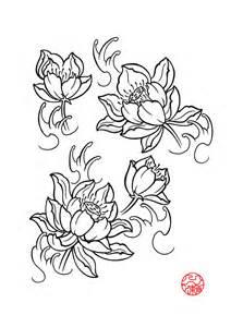 Lotus Flower Flash Black And Grey Lotus Flower Design By Muddygreen
