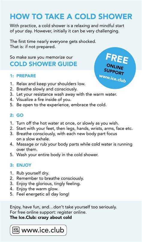 What Does It To Take A Cold Shower by Club Take A Cold Shower For Health And Awareness