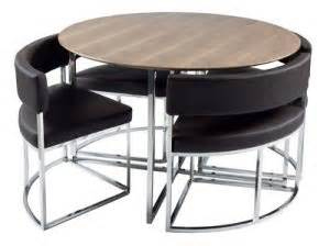 Compact Dining Table And Chair Sets Compact Orbit Modern Dining Table Set From Dwell Fresh Design