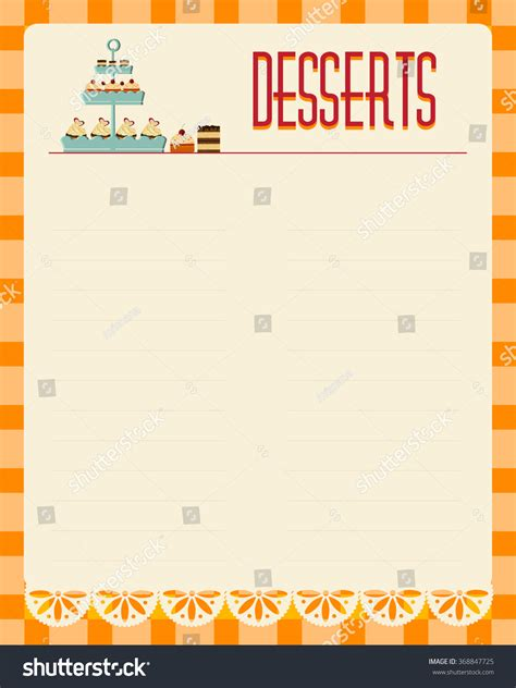 dessert menu template 100 8 792 cake slice stock vector illustration and