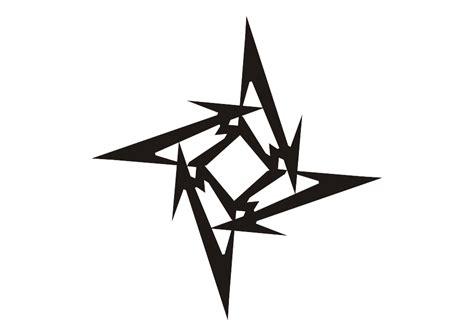 tattoo star logo logo metallica ninja star vector free logo vector
