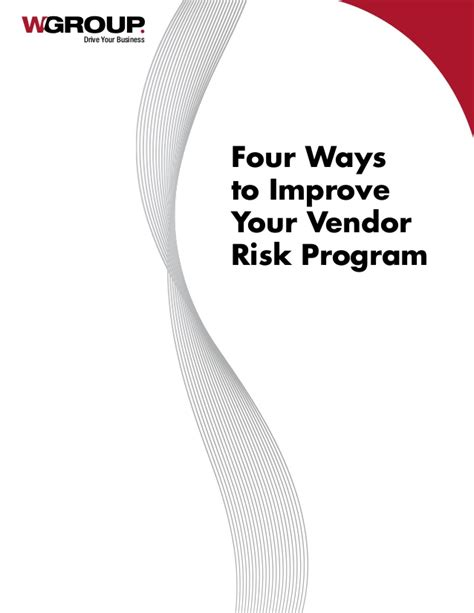 4 ways to increase your four ways to improve your vendor risk program
