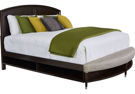 king bed storage bench vibe merlot king radius bench panel storage bed from broyhill 4257 254 257 460