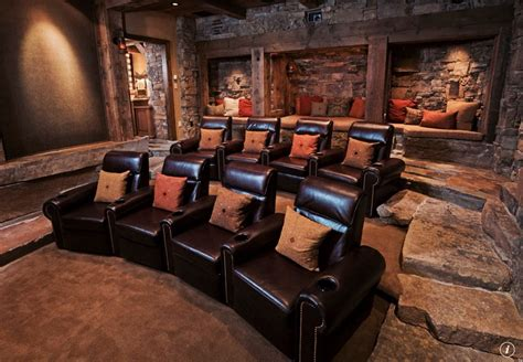Home Theatre Furniture by Rustic Home Theater With Columns Carpet Zillow Digs Zillow