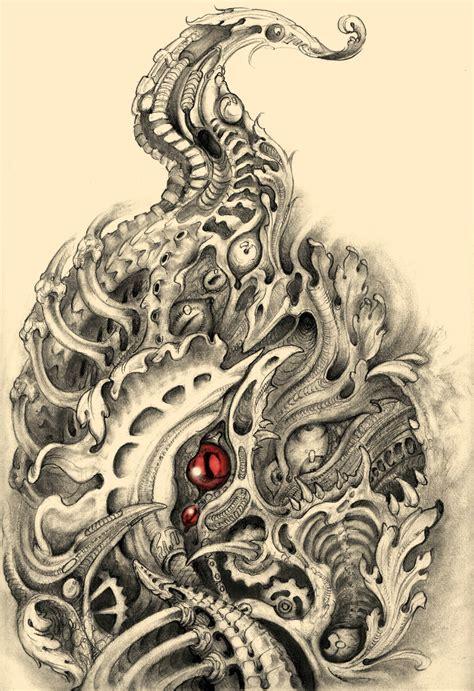 biomechanical tattoo drawings biomechanical rooster tat2 by simonjova on deviantart