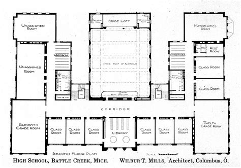 high school floor plan knowlton school digital library