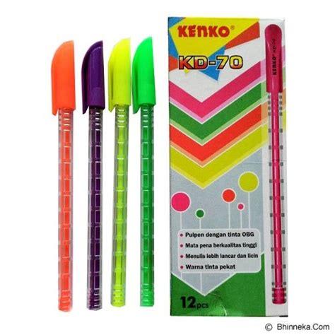 Pulpen Bolpen Point Gel Pen Kenko K 1 0 5 Mm jual kenko pulpen kd70 murah bhinneka