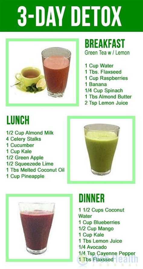 3 Days Detox Juice Diet Plan by 1000 Ideas About Detox Smoothies On Smoothie
