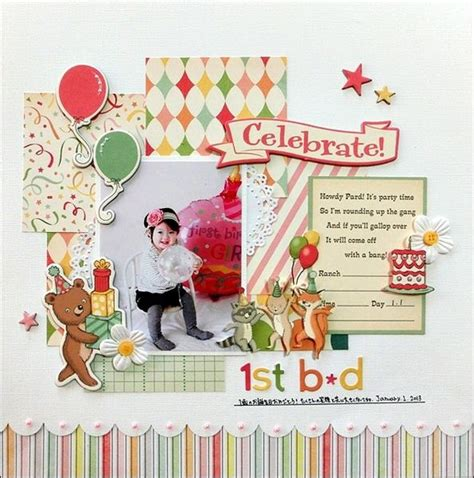 layout design for 1st birthday 17 best images about scrapbook ideas birthday on