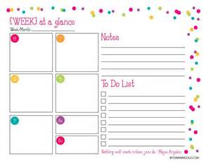 week at a glance template search results for month at a glance printable 2015 for