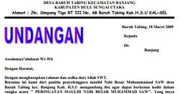 contoh surat undangan pengajian acara hari besar islam contoh surat undangan pengajian acara hari besar islam