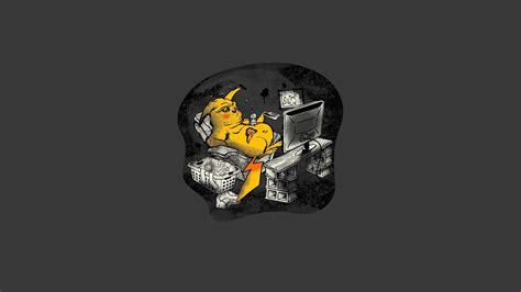 wallpaper cartoon simple pikachu pokemon abstract cartoons simple wallpaper