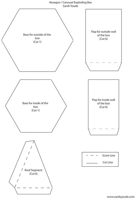 Hexgonal Card Template by 25 Best Ideas About Exploding Box Template On
