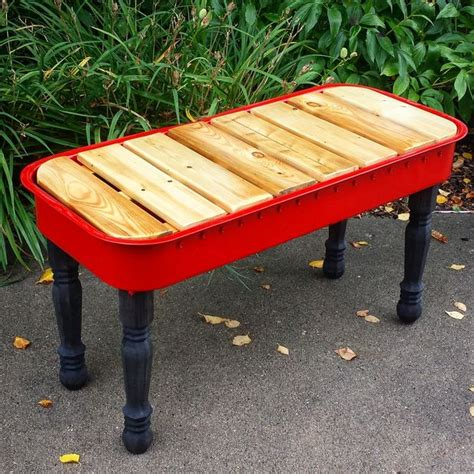wagon bench 16 simple ideas for upcycled red wagon projects