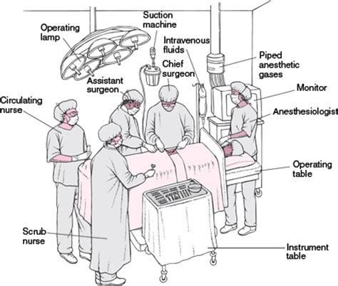 operating room circulator operating room team sterile members nursing crib
