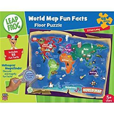 amazoncom leapfrog world map fun facts pc floor puzzle