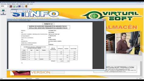 formato de inventarios permanente en unidades sunat formato 12 1 registro del inventario permanente en