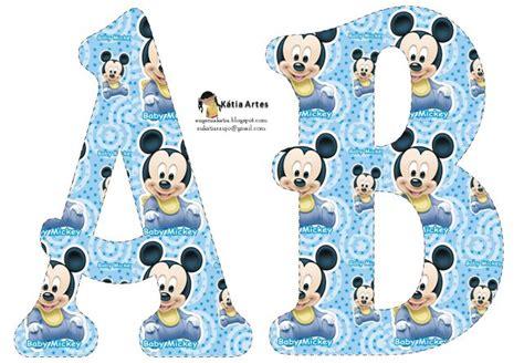 printable mickey mouse alphabet letters alfabeto de mickey beb 233 en fondo celeste alfabetos