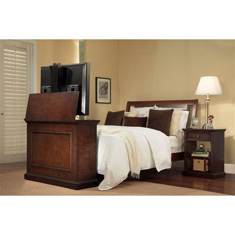 end of bed tv stand touchstone elevate end of bed or anyroom theater lift