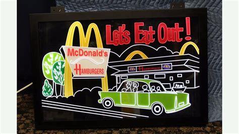 eat light up sign mcdonalds lets eat out light up sign lot k57 los