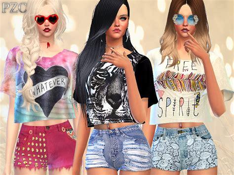sims 2 clothing the sims resource pinkzombiecupcakes intense heat set