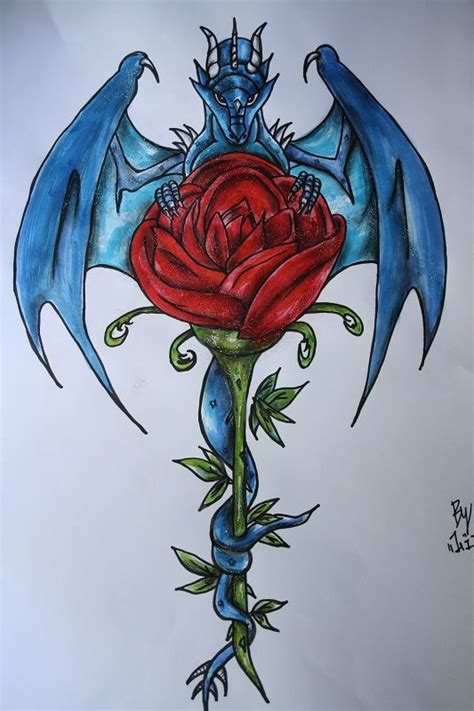 rose and dragon tattoos 53 best images about inky goodness on