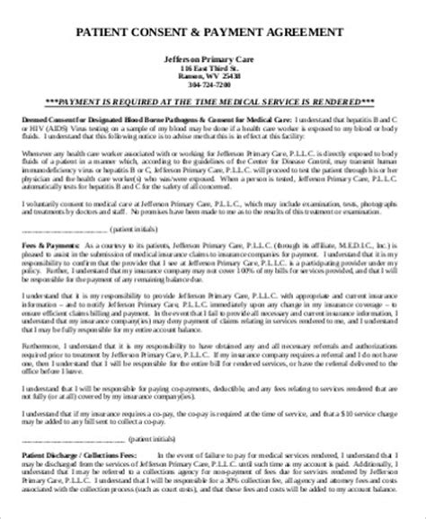 Patient Payment Agreement Letter 9 Payment Agreement Form Sle Free Sles Exles Format