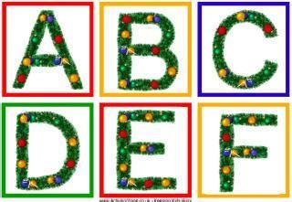 large printable christmas letters printable alphabets