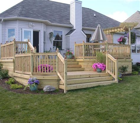wood deck backyard ideas