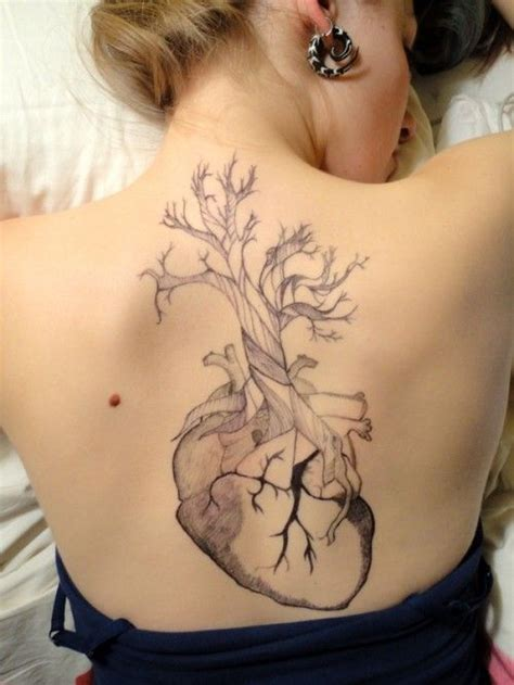 black and grey human heart tattoo on s siderib