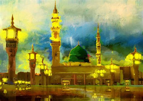 islamic painting islamic painting 002 painting by corporate task