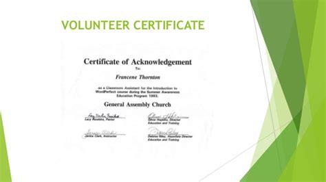 certification letter for volunteer work certification letter volunteer volunteer