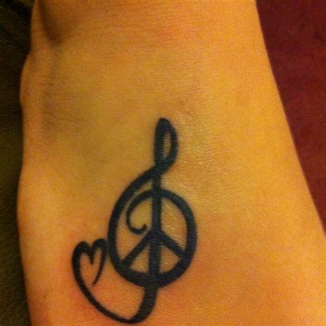tattoo love and peace my foot tattoo peace love and music ink pinterest