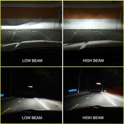 high beam led lights nighteye 9000lm h4 hb2 led headlight kit light hi low