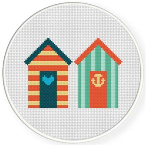 house pattern cross stitch beach houses cross stitch pattern daily cross stitch
