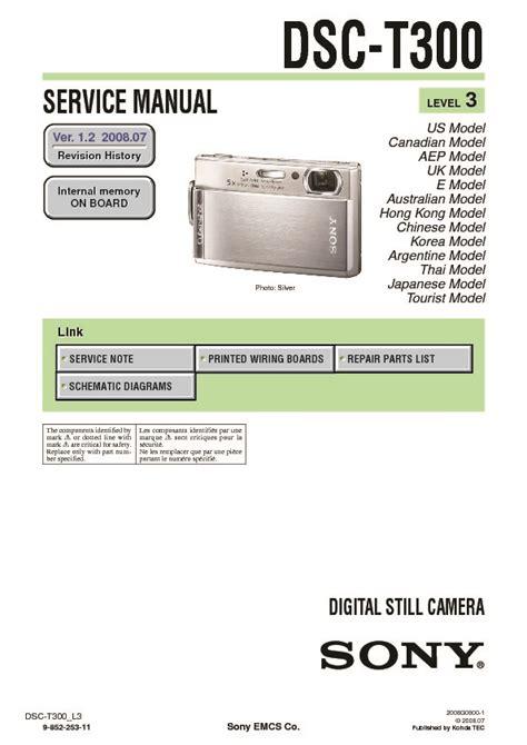 Kamera Sony Dsc T300 sony dsc t300 service manual free