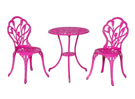 Pink Bistro Chair Meadow D 233 Cor Bistro Table And Chair Set Pink Tulip Ebay